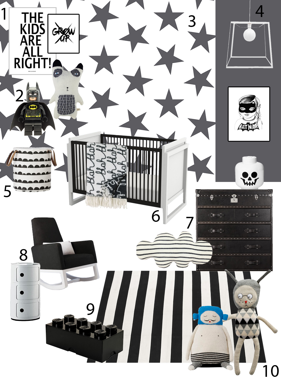 SISSY + MARLEY black and white nursery