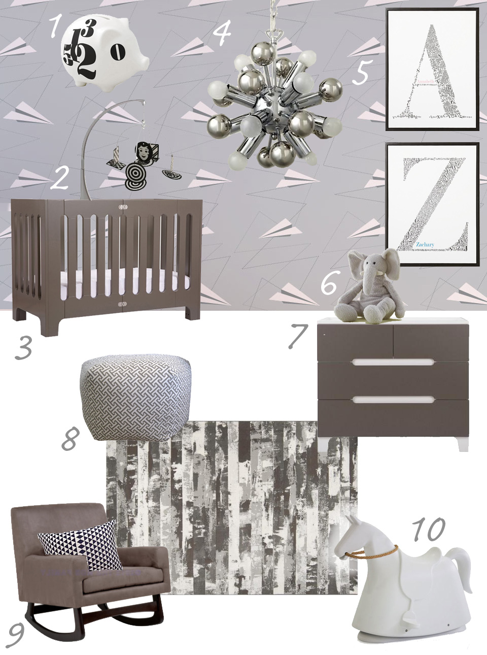 modern baby mobiles for crib, mountains baby mobile baby crib mobile modern nursery mobile felt ...