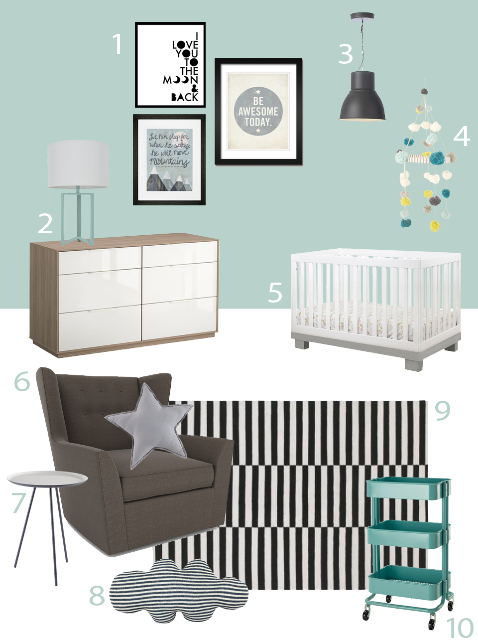 My Modern Nursery 82 Jessica's Nursery for Baby #2